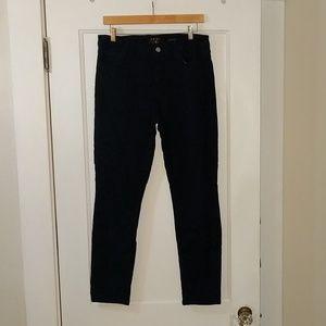 7FAM JEN7 Ankle Skinny Floral Lace pants, sz 8